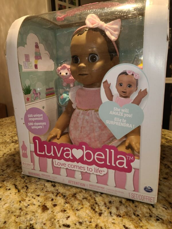 Luvabella Dark Brown Hair Interactive Baby Doll