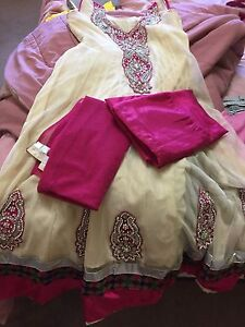 Cream and pink suit for only $15