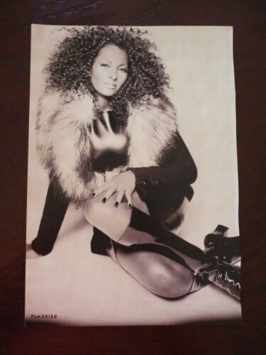 Pam Grier Renee Zellweger Double Sided Coffee Table Book Photo Page 9x13