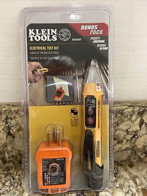 Klein Ncvt5kit Electrical Tester Kit W Dual-range Ncvtgfci Receptacle Tester