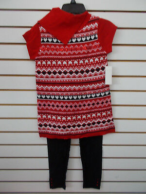 Girls Pogo Club 2Pc Red Sweater   Leggings Set Size 7 8 And 10 12