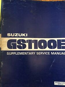 1981 Suzuki GS1100E Supplementary Service Manual
