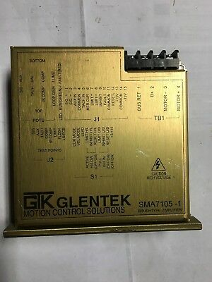 Sma 7105-1 Glentek Servo Brushtype Amplifier Motor Cnc Control 3d Printer