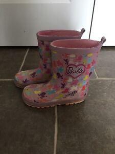 Barbie rain boots