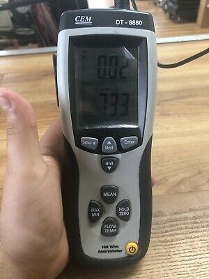 Cem Dt-8880 Differential Air Pressure Gauge Manometer Data Logger Meter Tester