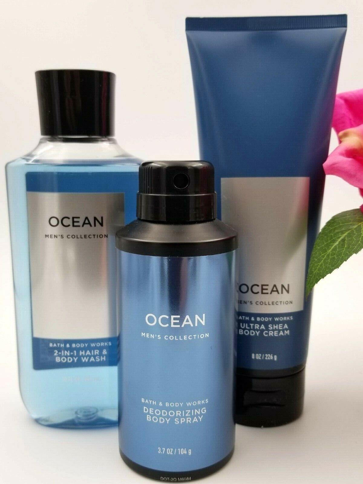 NEW BATH & BODY WORKS OCEAN MEN'S 2 IN 1 HAIR BODY WASH SHOW
