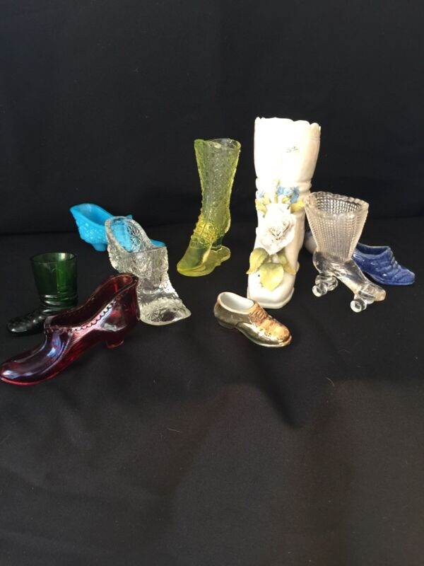 Lot of 10 Vintage figure -Shoe Slipper ,Heel  and boots BEAUTIFUL!