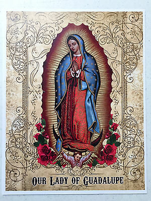 OUR LADY OF GUADALUPE 8x10 Virgin Mary Custom Catholic Art Picture Print...