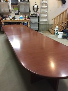 Wood Boardroom table