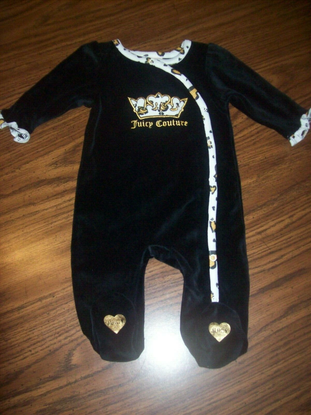 Baby Girls JUICY COUTURE 1-Pc Velour Outfit  Size 0 - 3 Mont