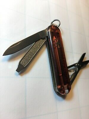 Victorinox Swiss Army Keychain Knife - Classic SD  - Translucent Brown