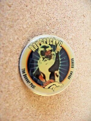Denver Broncos Ray Crockett Lapel Pin Denver Post 9News 850 Koa
