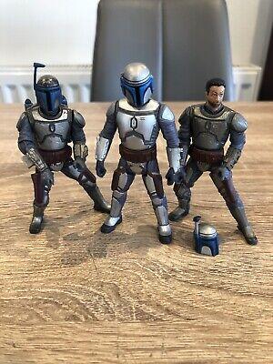 Star Wars Action Figure jango fett Mandalorian Bundle X3 Clone Wars Sith Rare