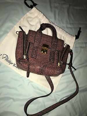 88a3825876e Authentic 3.1 phillip lim pashli mini crossbody satchel Leather Bag  brown multi