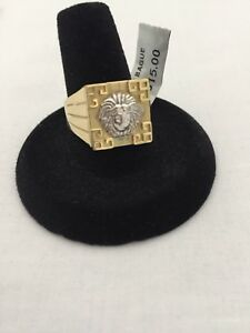 Versace Style Men's 10K Gold Ring