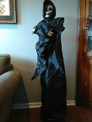 Rare Spirit Halloween Tekky Toys Floating Grim Reaper Sound & Lights ~ Animated