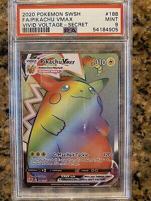 Pokemon Vivid Voltage - Pikachu VMAX 188/185 Rainbow Secret Rare - PSA 9 MINT