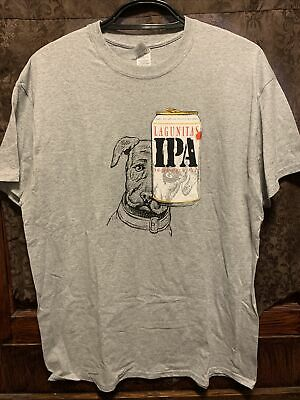 LAGUNITAS BREWING XL IPA Beer T Shirt Petey the Dog Eye Covered by Can