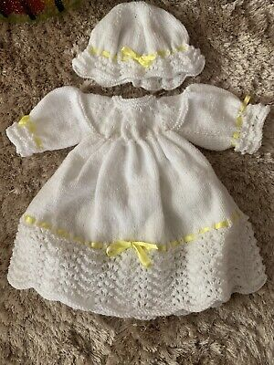 """Hand Knitted Dolls Clothes To Fit 16""""-18"""" reborn doll/prem/small newborn baby"""