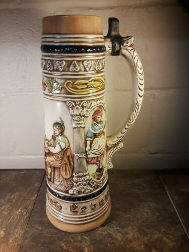 "Vintage Extra Large Errol Penna Beer Stein - 15"" Tall! Holland! GUC!"