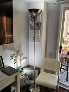 Modern Silver Chrome Floor Lamp
