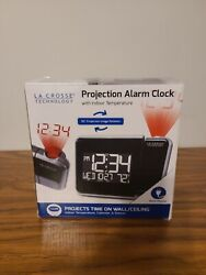 La Crosse Technology Alarm Clock with Indoor Temperature Projection Wall Ceiling