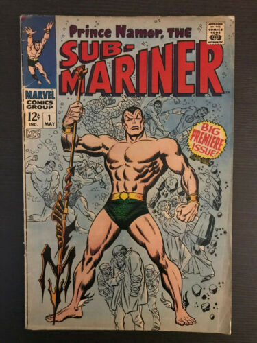 Sub-Mariner #1 1968 First Printing Marvel Comic Book. Avengers! 100% Complete