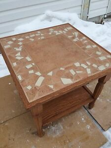 Square mosaic side table/ coffee table