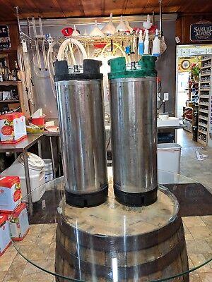 Two Cleaned Cornelius Kegs Corny Ball Lock