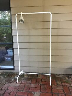 Clothes rail hanger portable with wheels FREE