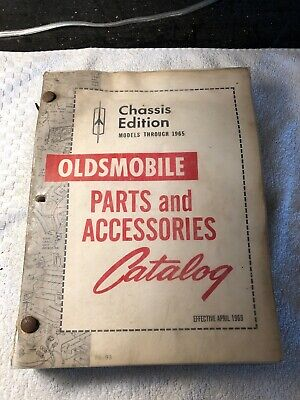 Original 1950's 60's Oldsmobile Parts And Accessories Catalogs Chassis & Body
