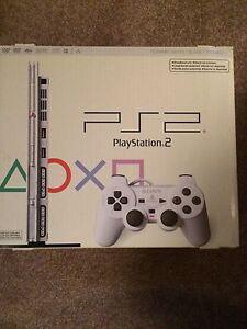 Very Rare Ceramic White PlayStation 2 Slim Console In Box