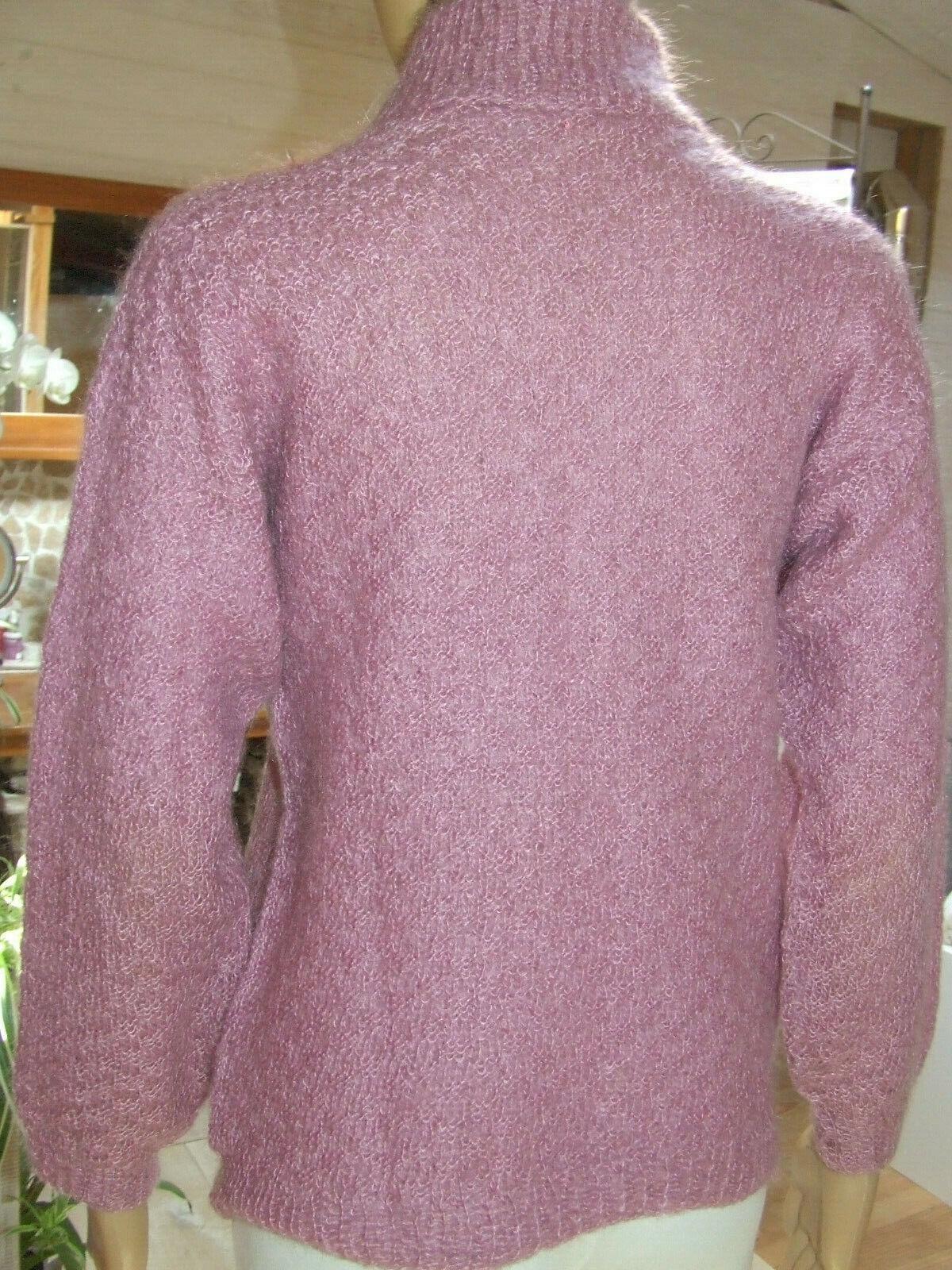 Phildar    superbe pull  tricoté main mohair  taille 38 parfait état