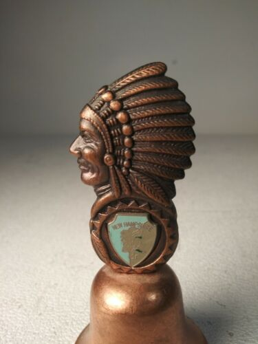 Metal  New Hampshire Souvenir Bell Nice Figural Image Bust
