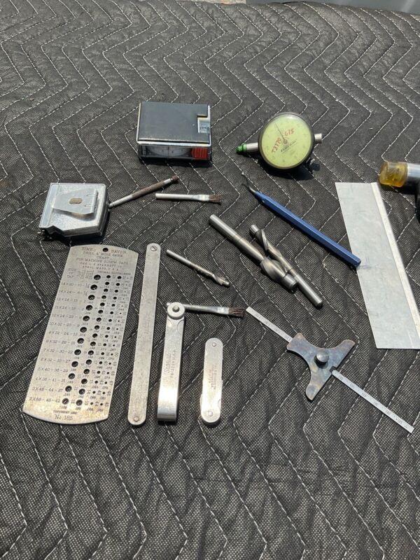 lot of machinist tools starrett 237 185 guage plus more