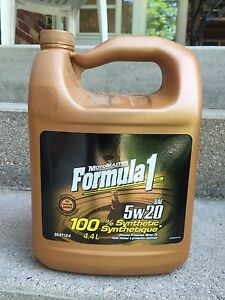 Two 4.4L Formula 1 5W20 - Synthetic