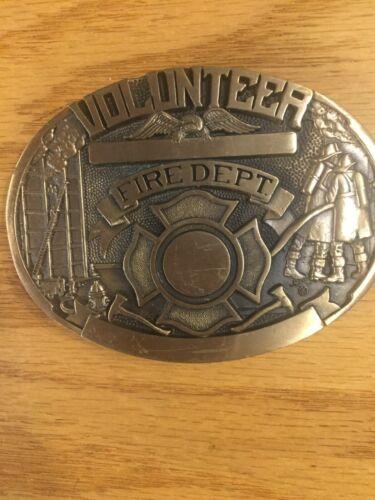 Volunteer Fire Dept. Belt Buckle 1st Ed, #94 Solid Brass Award Designs
