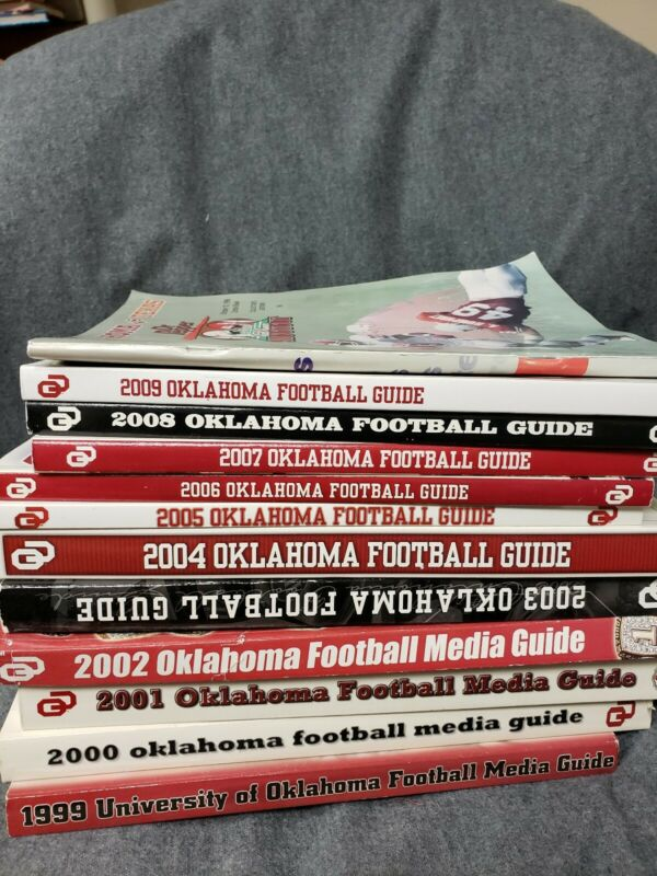 1999-2009 Oklahoma Footbal Guide Plus Cottonbowl Collectors Edition