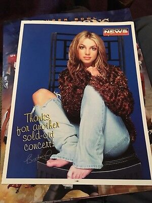 Britney Spears Foundation 9X11 Philadelphia Daily News Insert Photo Poster