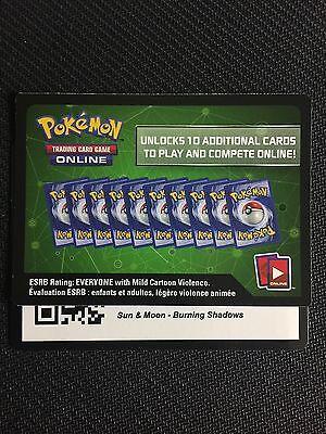 Pokemon Sun   Moon Burning Shadows Tcg Online Code Cards  12 Count