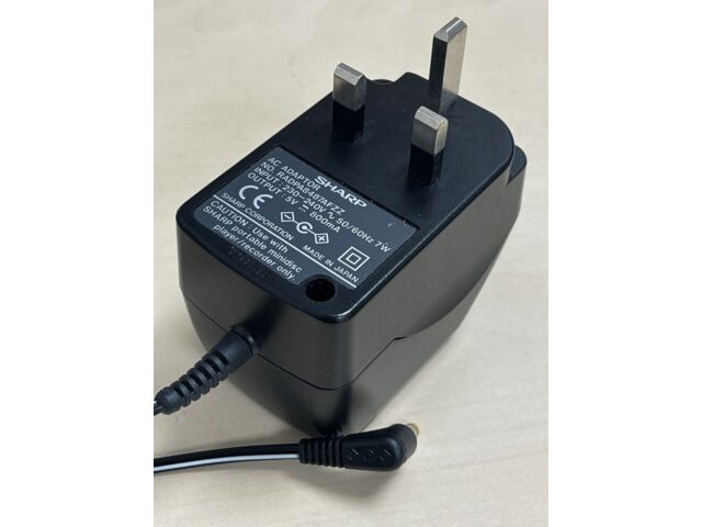 SHARP MINIDISC AC/DC MAINS ADAPTER / PSU / CHARGER (dc530) 5V - 800mA (0.8 Amps)