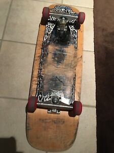 Vintage 1991 sims skateboard plus modern wheels and krux trucks