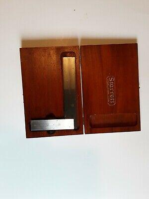Starrett 6 Inch Master Beveled Edge Square No.55 Machinist Tool Die Maker In Box