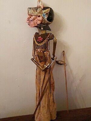 Vintage Wooden Oriental/Asian Large Marionette Stick Puppet