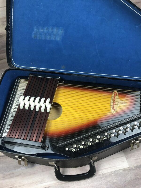 Vintage Chromaharp By Rhythm Band Inc Made In Japan with Case