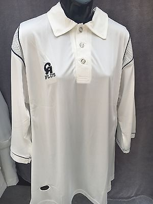 CA PLUS WHITE CRICKET MEDIUM SHORT SLEEVE TOP  MENS NEW WITH TAGS....BARGAIN