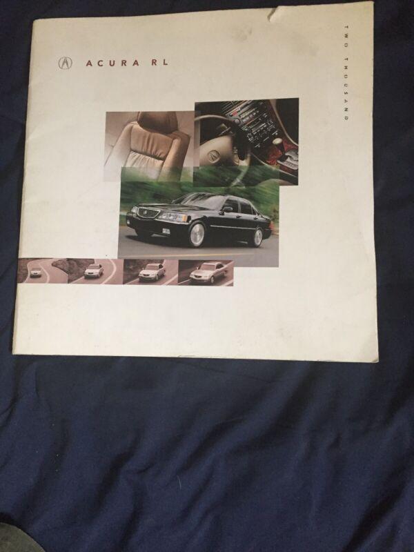 2000 Acura RL Sedan USA Market Color Brochure Catalog Prospekt