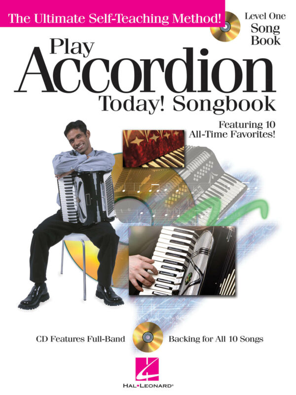 Play Accordion Today! Songbook Level 1 Beginner Sheet Music Songs Book CD