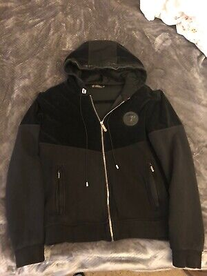 Gianni Versace Black Velour/leather Jacket Vintage