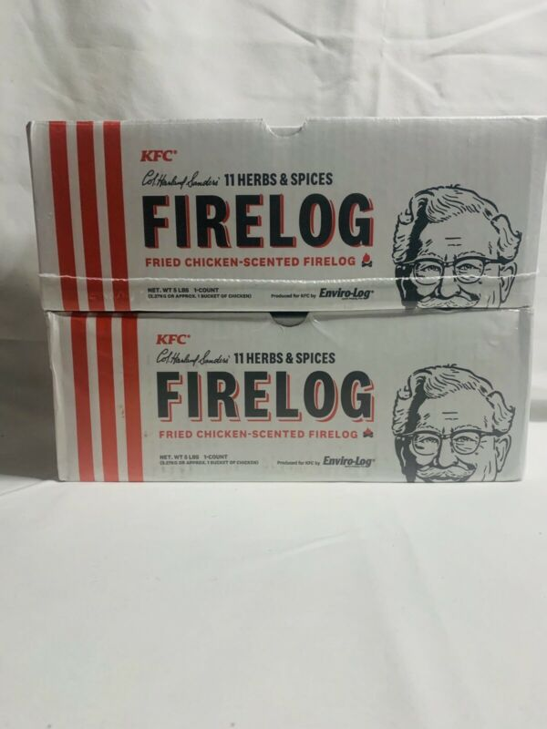 KFC® Limited-Edition 11 Herbs & Spices Firelog by Enviro-Log®  SET OF 2